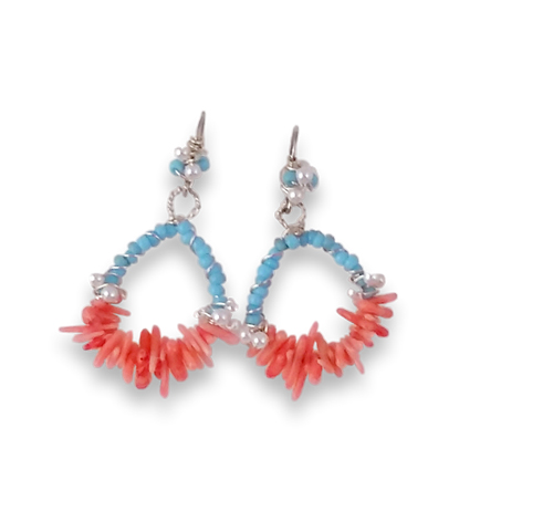 20170128_123816 Blue Bead And Coral Earrings #3_clipped_rev_2 new size
